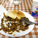 shoarma time in Amsterdam with Ayran drink in Amsterdam, Noord Holland, Netherlands