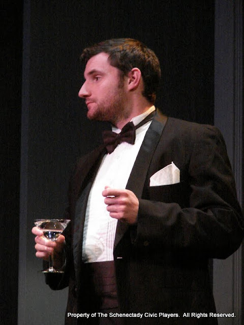 """Paul Dederick in """"Mystery at Twicknam Vicarage"""" as part of THE IVES HAVE IT - January/February 2012.  Property of The Schenectady Civic Players Theater Archive."""