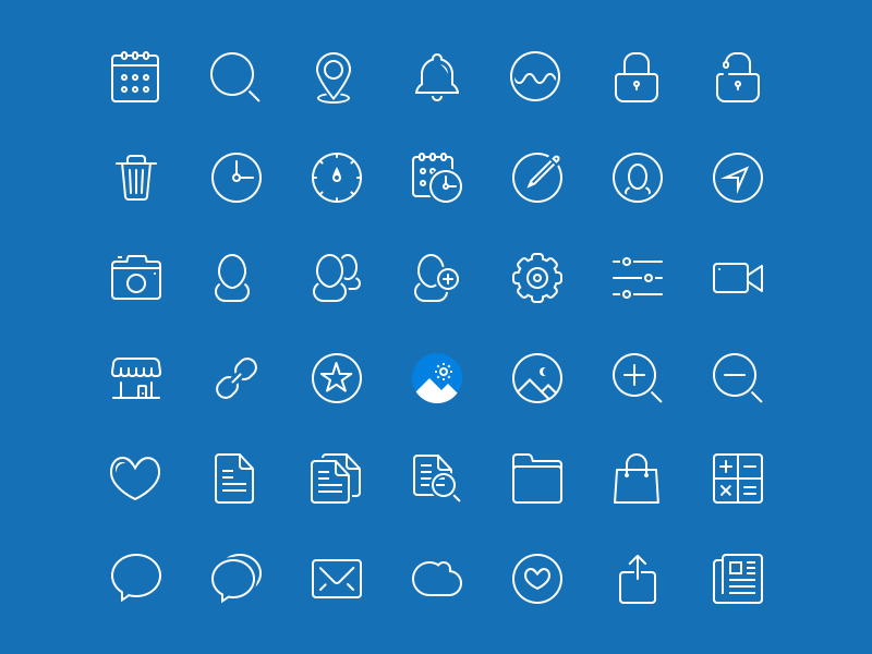 45 Blue Drops Icons Free PSD