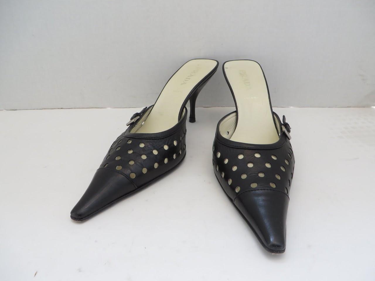 Prada Perforated Heels