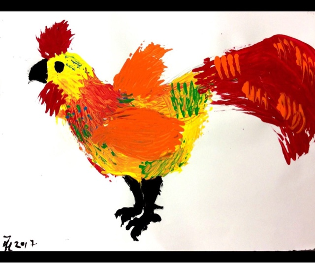 Mrs Knight S Smartest Artists Year Of The Rooster Paintings
