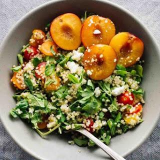 Cherry Plum & Goat Cheese Summer Salad
