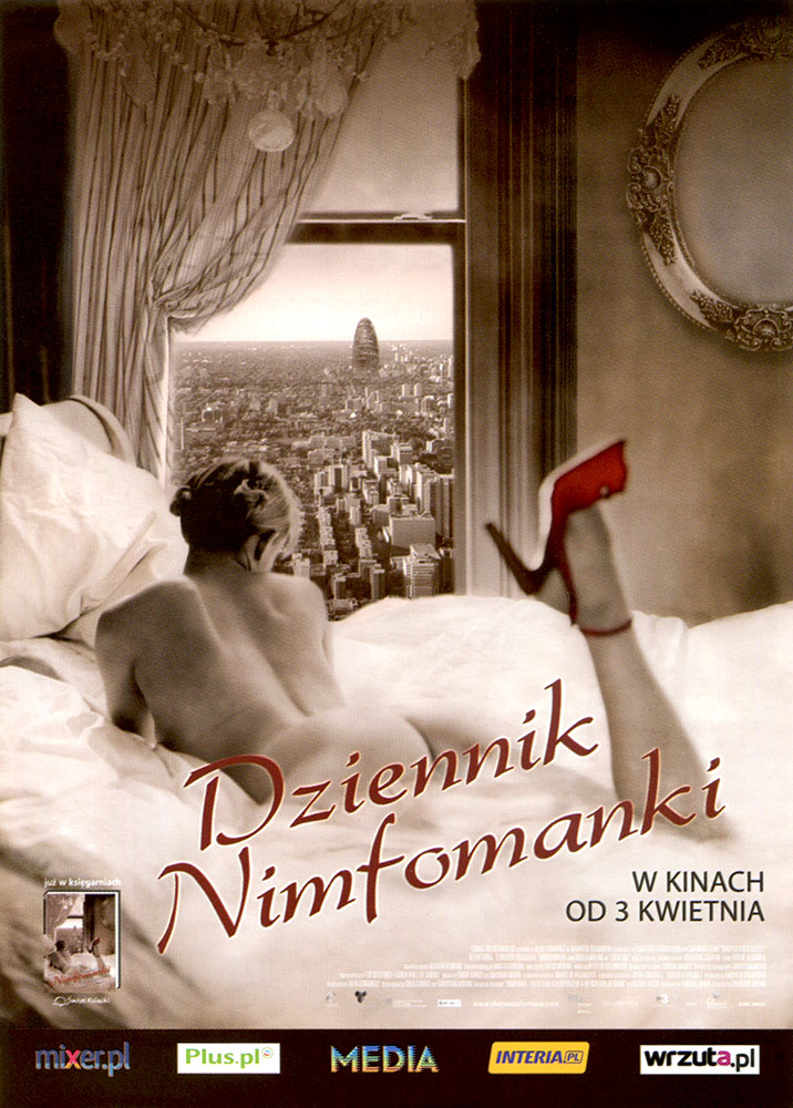 Ulotka filmu 'Dziennik Nimfomanki (przód)'