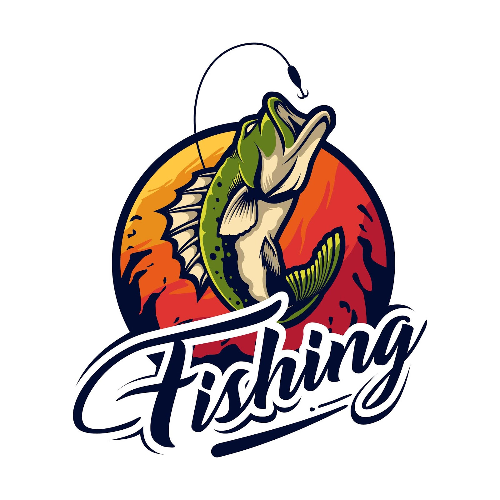 Fishing Logo Design Free Download Vector CDR, AI, EPS and PNG Formats