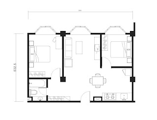 2 Bedroom - 703 Floorplan