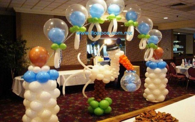 Ideas decorar globos Latex baby shower