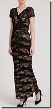 Gina Bacconi long beaded lace dress