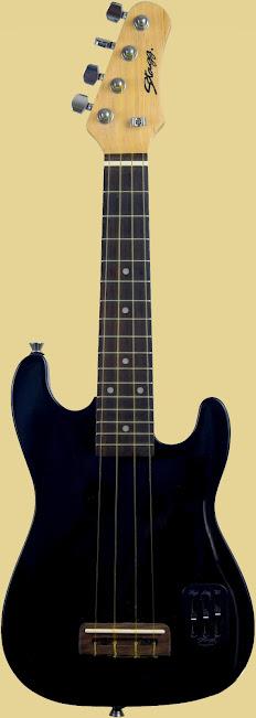 Stagg Stratocaster S-BK Electric Concert Ukulele