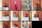 Tindak Lanjut Intruksi Kapolri, 8 Pelaku Premanisme Diboyong Polisi di Pancur Batu