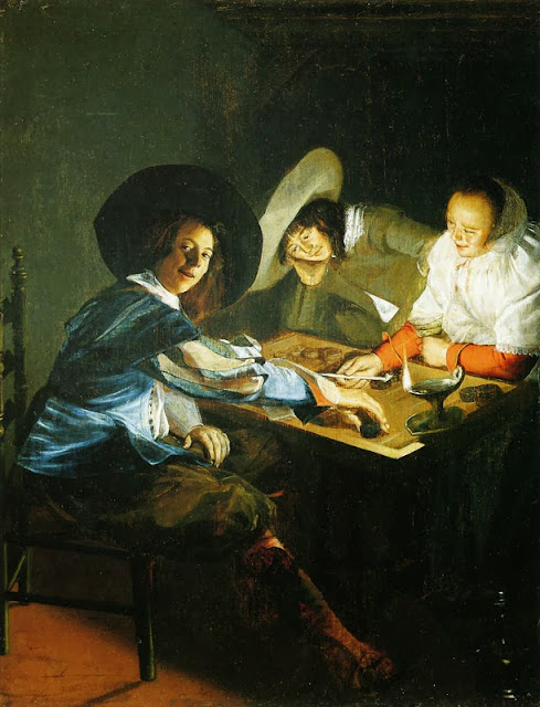 Judith Leyster - A Game of Tric Trac