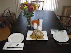 The start of Thanksgiving Linner