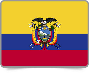 Ecuadorian framed flag icons with box shadow