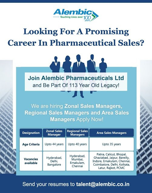 Career In Alembic For Pharmaceutical Sales