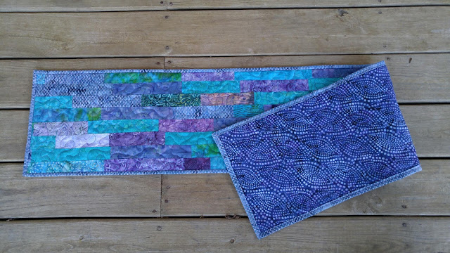 batik quilted table runner