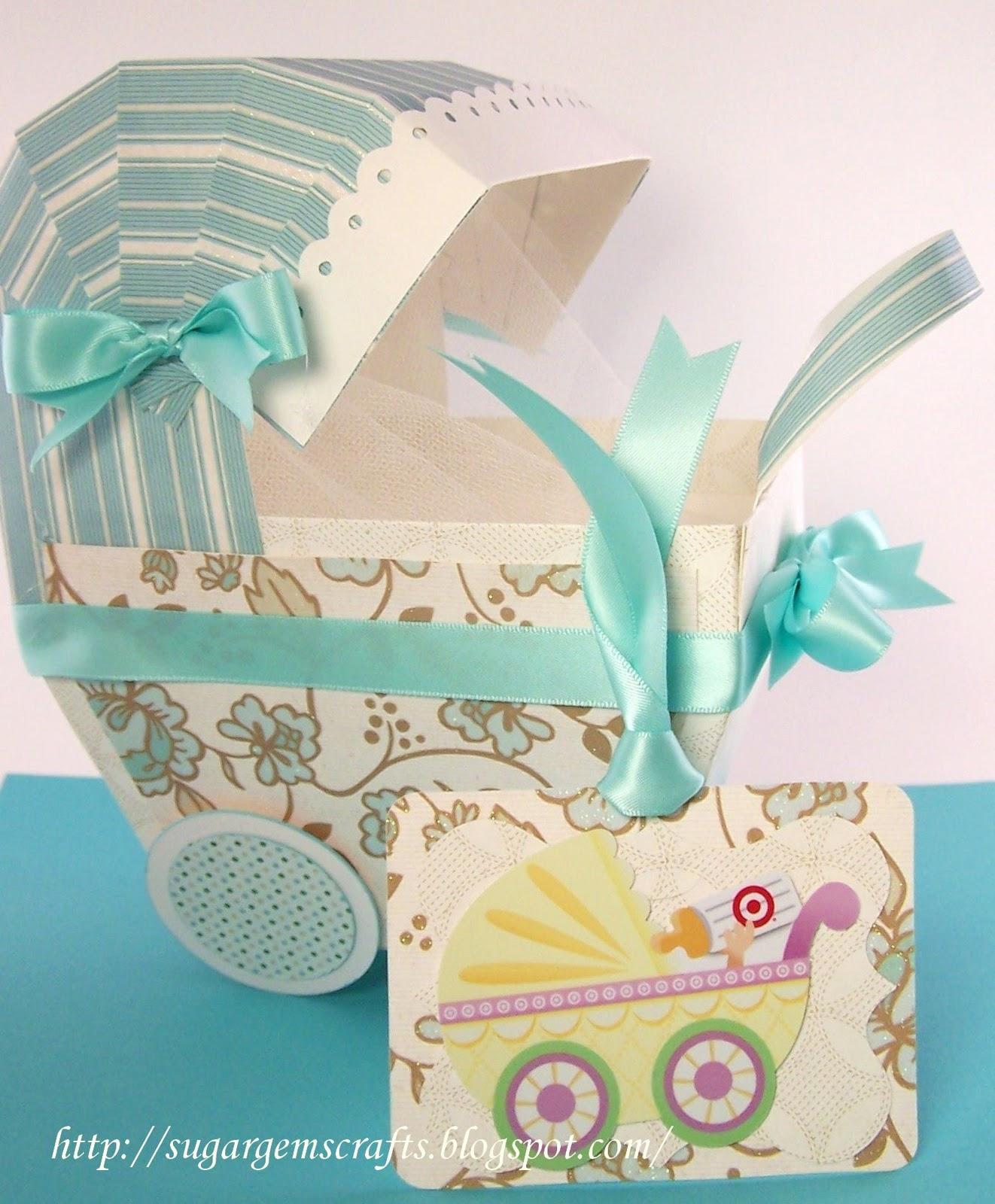 Sugargem baby shower buggy for Baby shower paper crafts