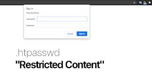 Cara Membuat .htpasswd Restricted Content