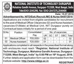 NIT Durgapur Jobs 2016 www.indgovtjobs.in