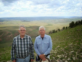 Bob (left) and Larry on the summit of Bull Mountain