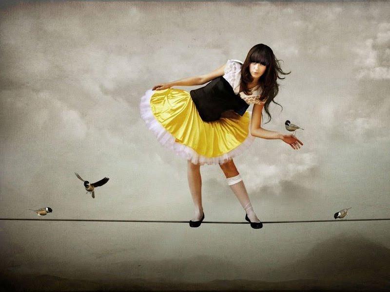 Girl Air Gymnast And Birds, Mystery 2