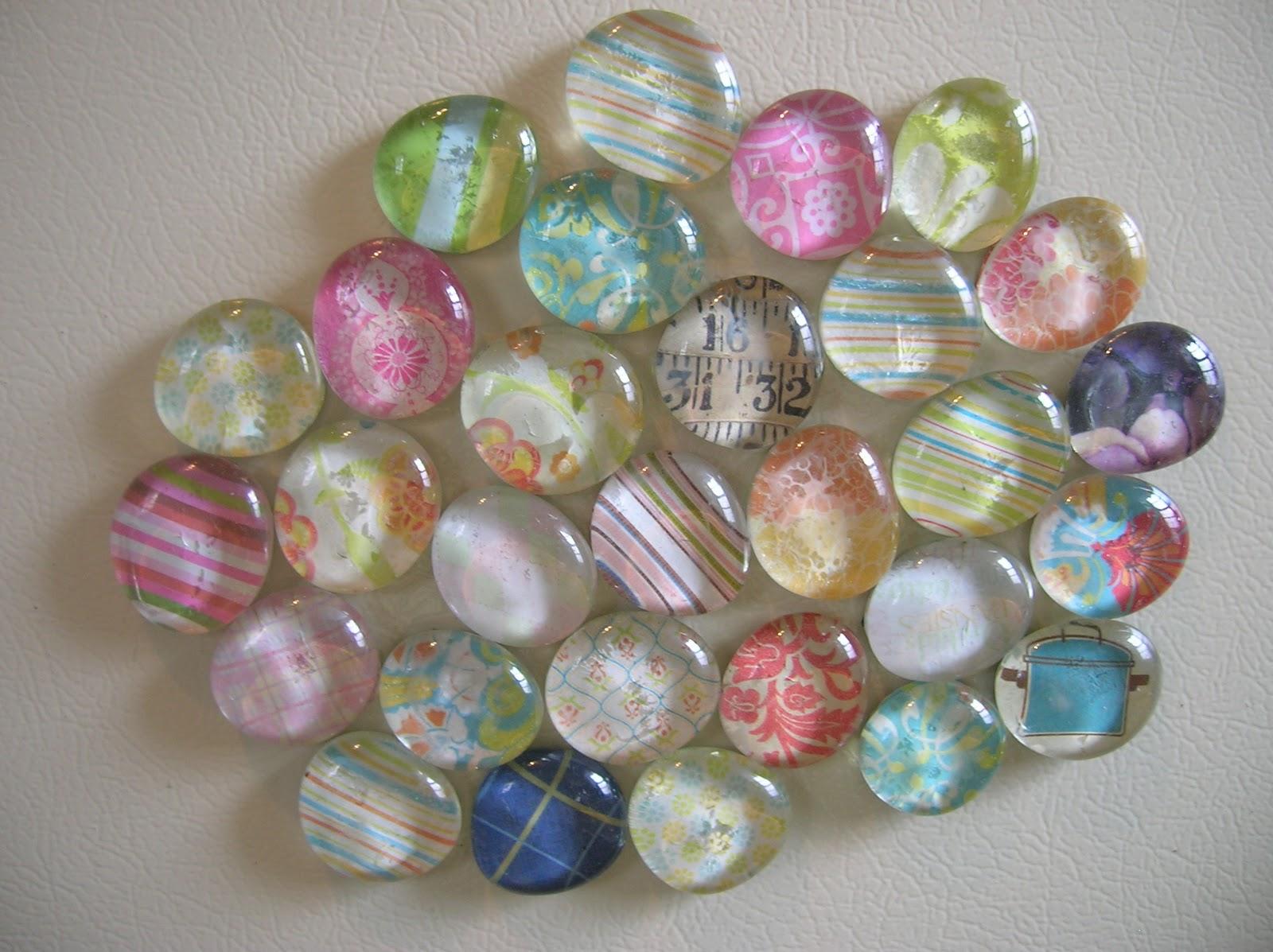 Rindy Mae Glass Gem Magnets
