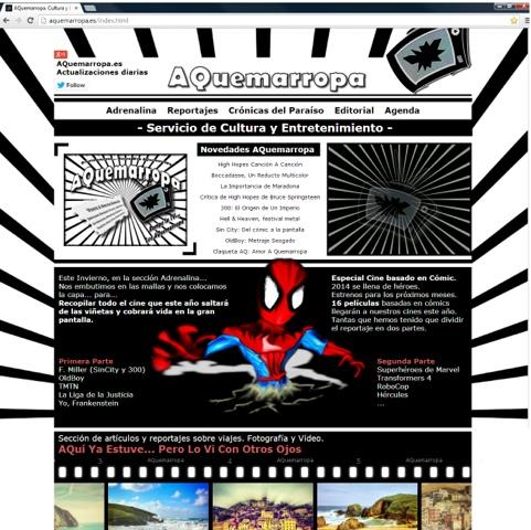 Dibujo de Spiderman simulando que sale del papel