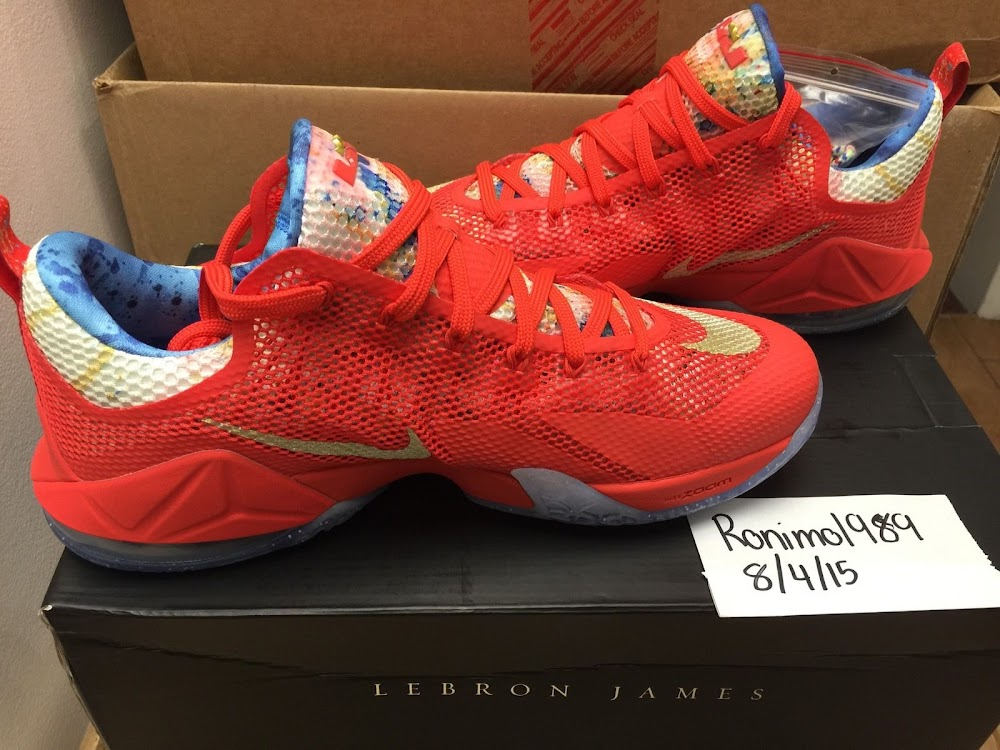 cd25999b7e88 ... Nike LeBron 12 Low Trainwreck PE Sighting on eBay ...