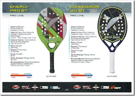 Beach Tennis Drop Shot 2016: ENERGY PRO Y CONQUEROR 2.0