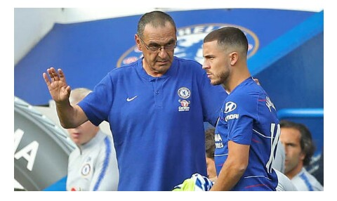 Chelsea coach reveals why he is angry with Hazard
