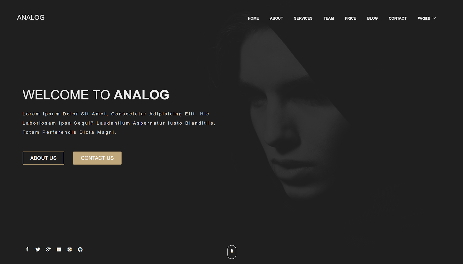 Analog Blogger Template
