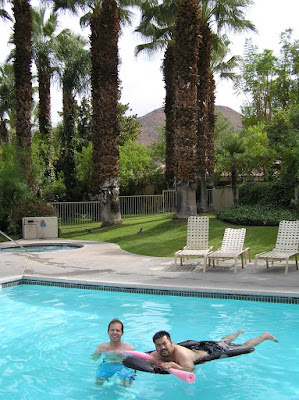 Photo of Justin and I in one of the eight pools at our resort. Photo taken on August 14, 2007.