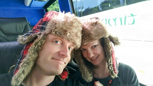 Laurence and Jessica hat