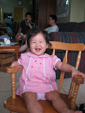 Felicity having fun in the rocking chair