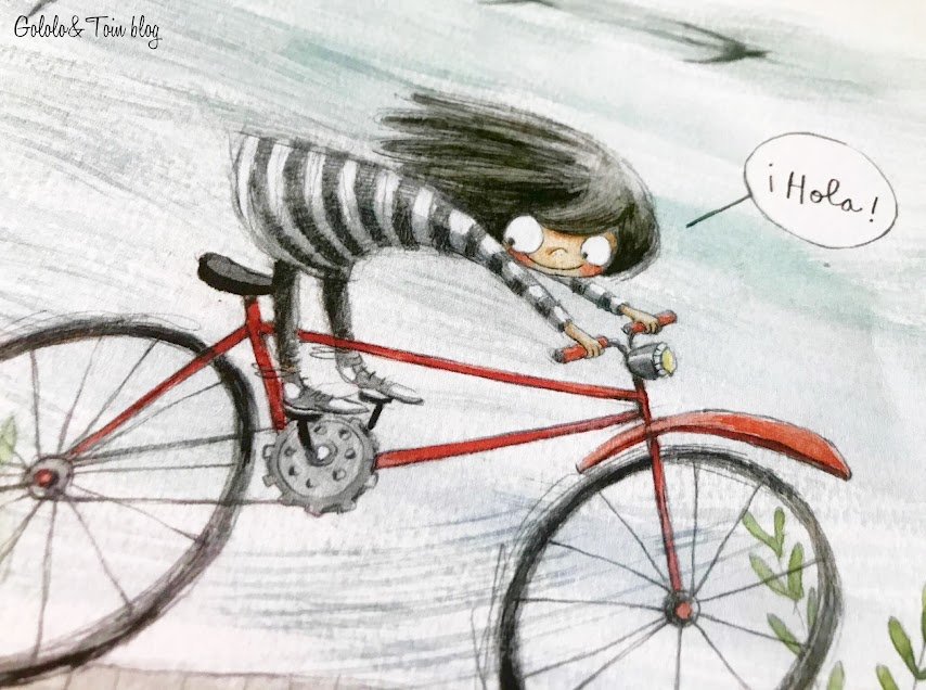 Ilustración álbum ilustrado De qué color es un beso