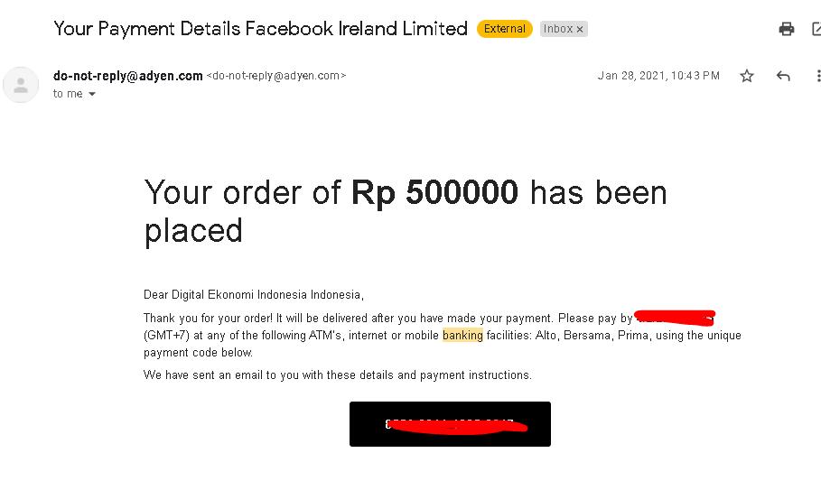 Topup Iklan Instagram Facebook Ireland Limited