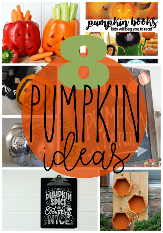 8 Pumpkin Ideas at GingerSnapCrafts.com #pumpkin #fall