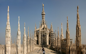 Top of Milan Cathedral panorama