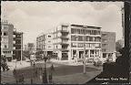 Groningen. Grotemarkt met Amsterdamsche Bank. Gelopen gestempeld in 1961.