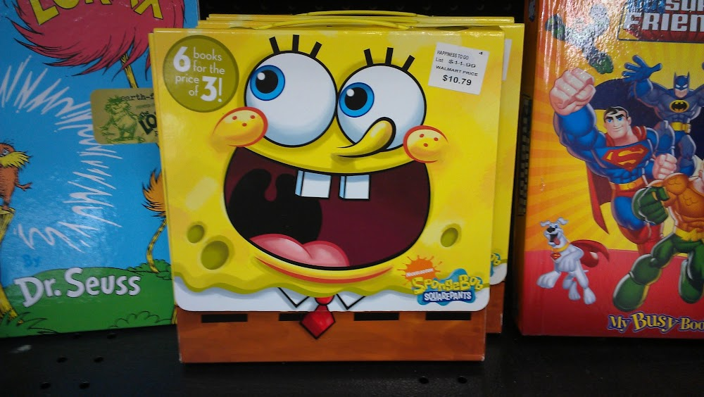 Nickelodeon books, like SpongeBob SquarePants available at Walmart