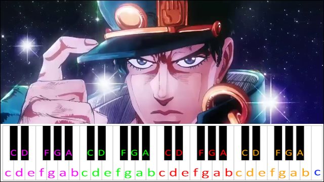 stand proud jojo 39 s bizarre adventure opening 3 piano letter notes