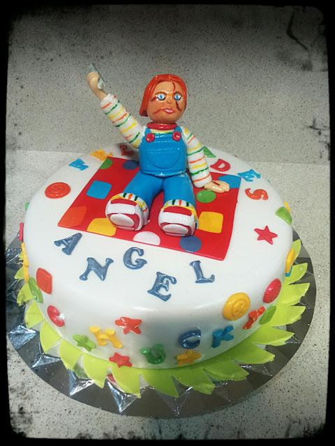 chucky cake, tarta muñeco diabolico,