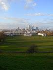 Výhľad z Greenwich parku na Canary wharf