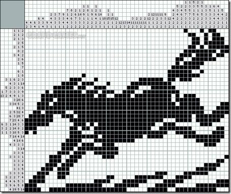 caballo silueta punto cruz  (3)