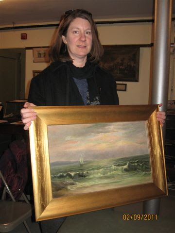 Donated Martha Safford Seascape Painting Restored to Original Beauty