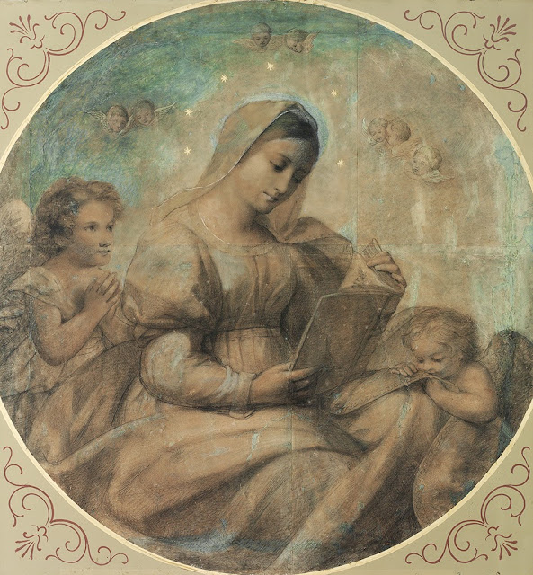 Marie Ellenrieder - Maria beim Studium 1816