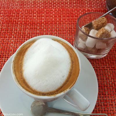 CarouLLou.com Carou LLou having coffee in Montreal Canada+
