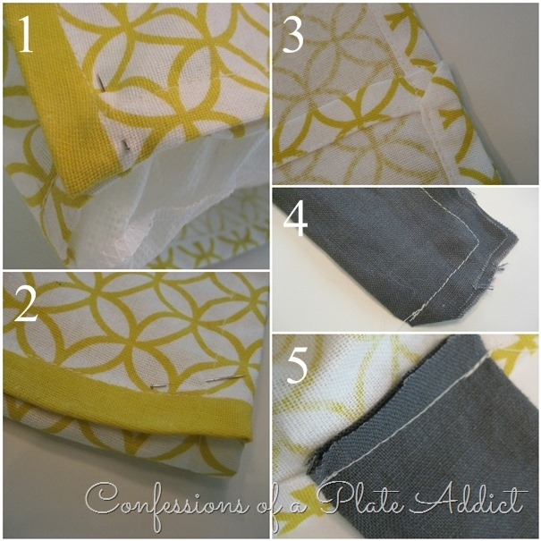 CONFESSIONS OF A PLATE ADDICT Easy Pillow Cover from a Tea Towel tutorial