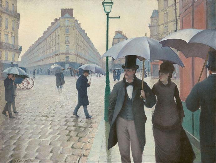 Paris street, rainy weatherGustave Caillebotte