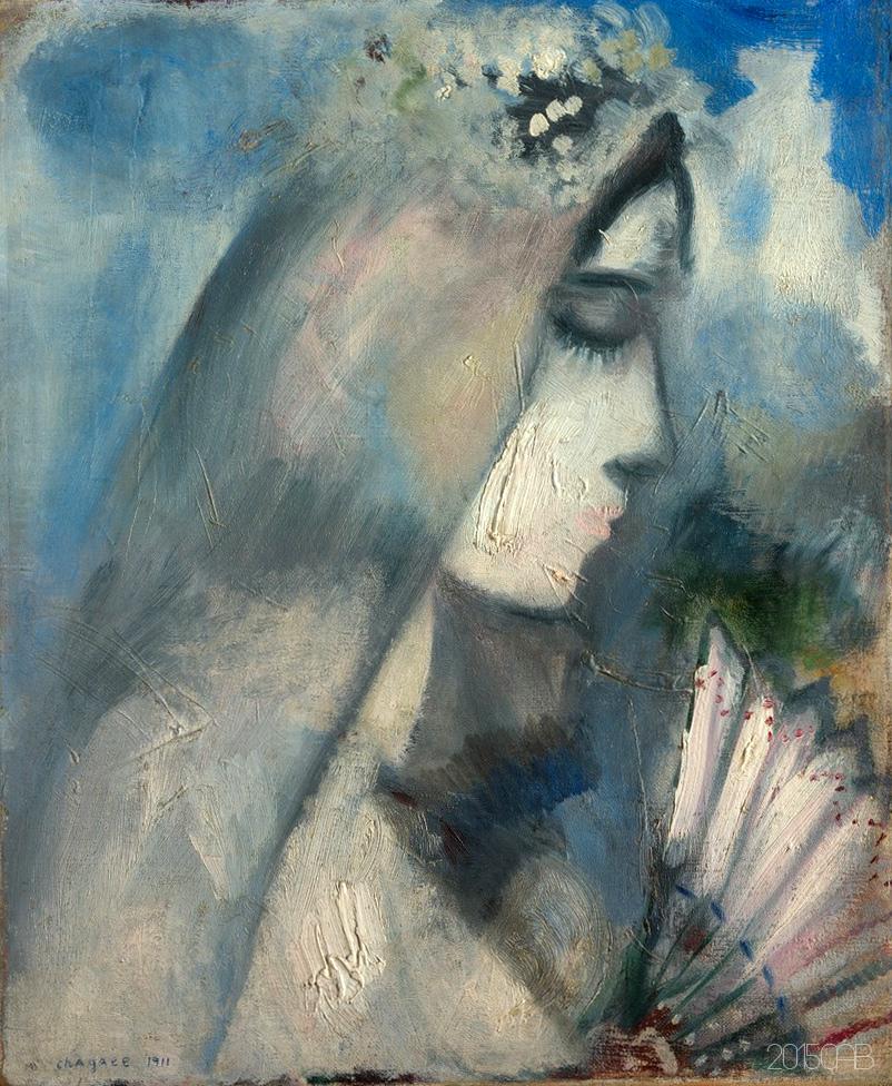 testclod: La Mariée avec un Éventail, Marc Chagall 1911