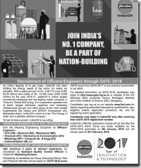 IOCL-Officers-Engineers-through-GATE-2018-www.indgovtjobs.in
