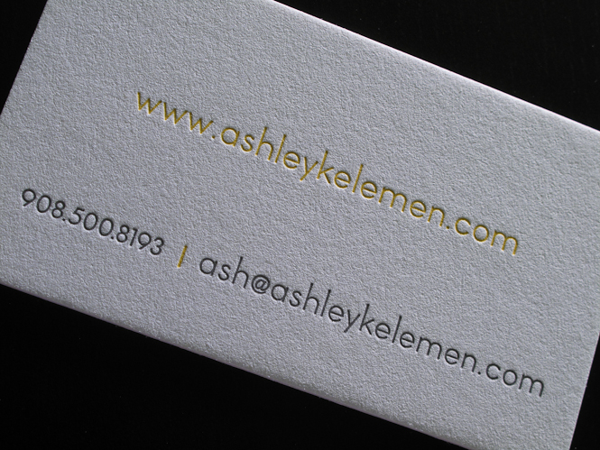 Nice Letterpress Business Cards